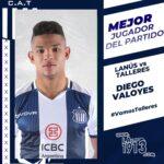 Diego Valoyes el jugador del partido en La1913.